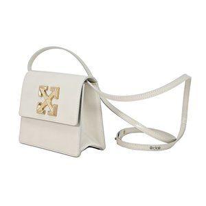 Off-White Jitney 0.7 Leather Cross Body Bag